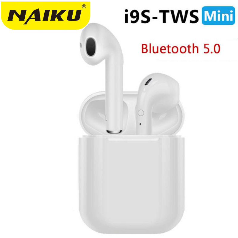 Heißer Verkauf NAIKU i9s TWS Mini Wireless Bluetooth Kopfhörer Stereo Ohrhörer Headset Mit Lade Box Mic Für Alle smartphone