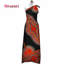 Dashiki african dresses for women africa National Printing  strap Sexy red dress bazin riche WY3414