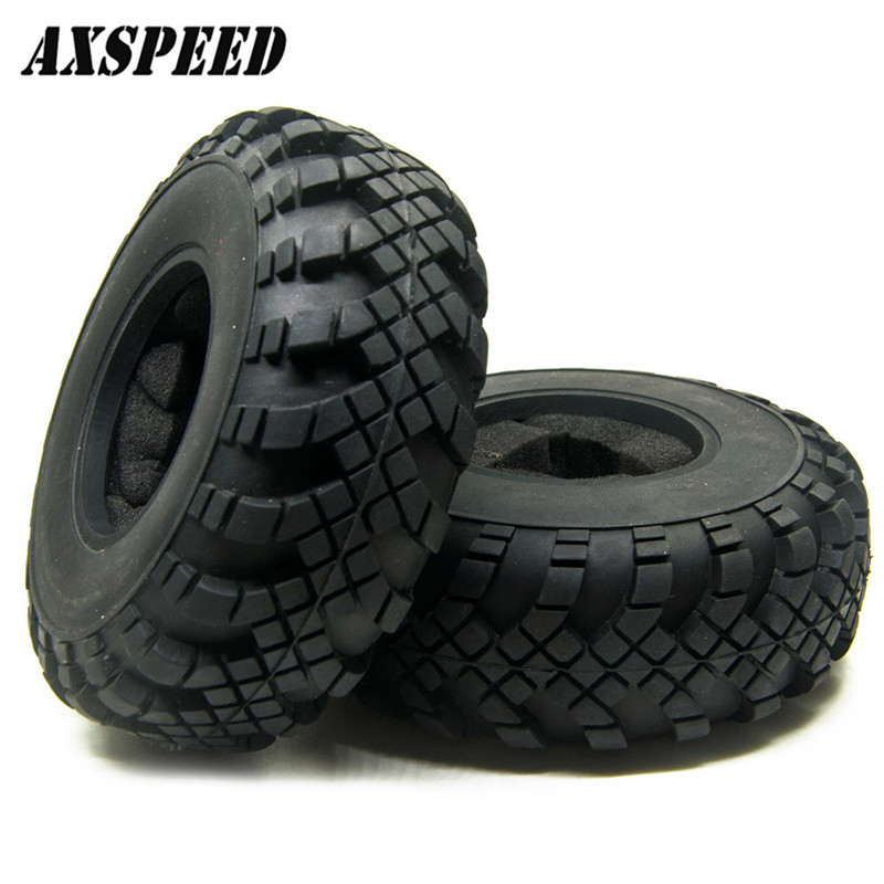 AXSPEED 1/4PCS Good Quality 2.2 Beadlock Wheels 40mm Tires Tyre For 1:10 RC Crawler Axial Wraith TRX-4 #2