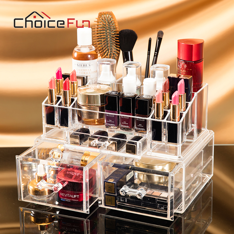 Container Stationery-Organizer Makeup Acrylic Storage-Box Fashion FUN CHOICE Practical