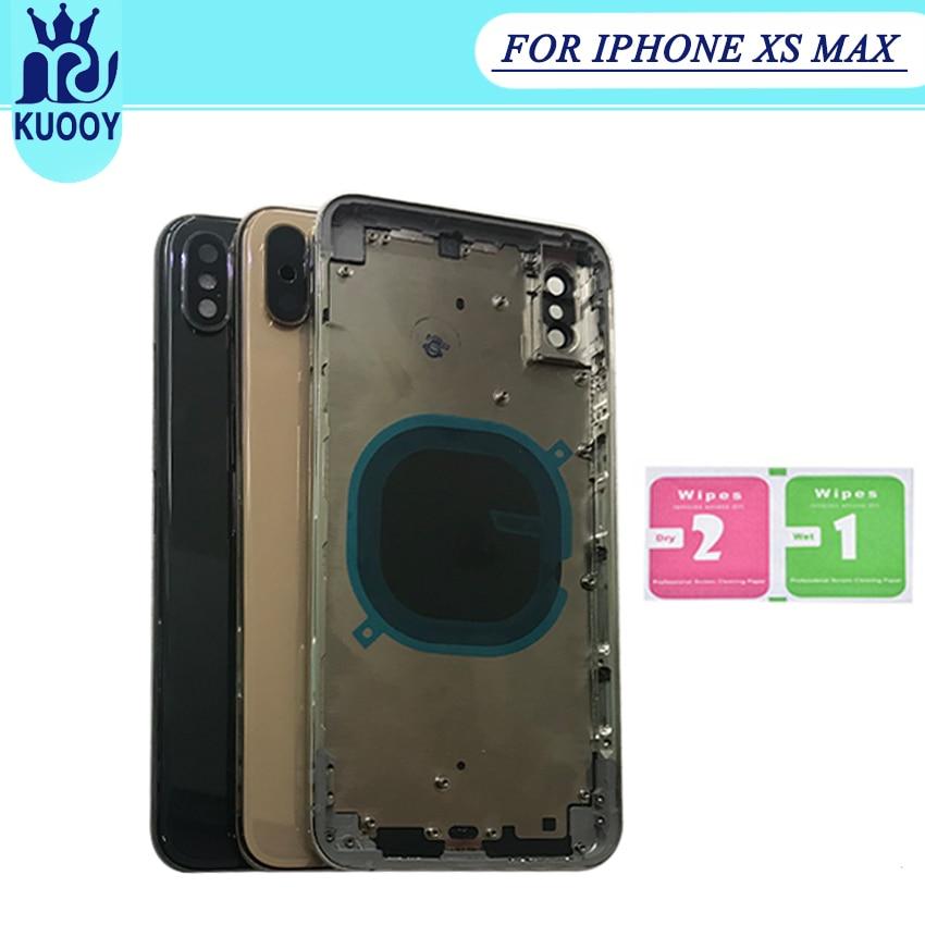 Coperchio Della batteria Per il iphone XS/XS Max/XR Cassa Dell'alloggiamento Della Batteria Della Copertura Posteriore del Metallo Medio Telaio Completo montaggio