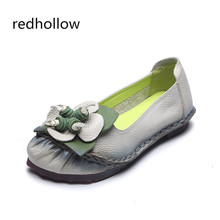 Spring Autumn Soft Leisure Flats Women Real Leather Shoes Vintage Moccasins Mother Loafers Casual Female Driving Ballet Footwear 2018 spring shoes women flats loafers moccasins ladies mother shoe driving leisure concise footwear women casual shoes bt702