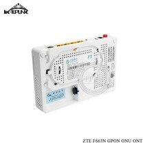 Используется ONU для zte ZXHN F663N GPON 3FE+ 1GE+ 1Tel+ USB+ wifi Ethernet порт ONU ONT как HG8546M F660 F623 F663N волоконно-оптический терминал