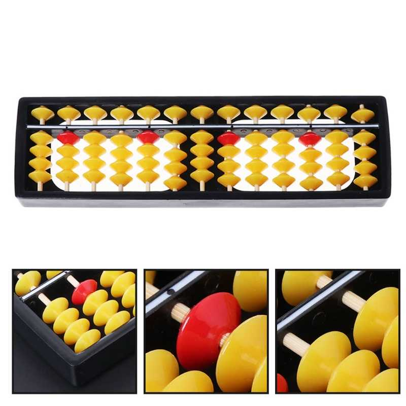 Abacus Soroban Beads Column Kid School Learning Tools Educational Math Toys #0713