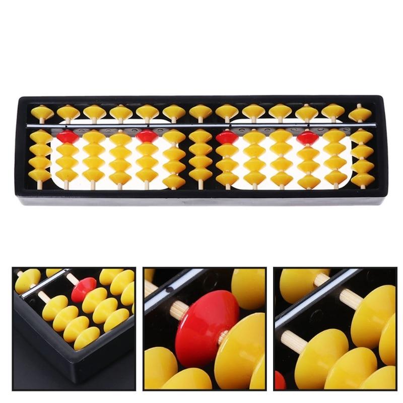Abacus Soroban Beads Column Kid School Learning Tools Educational Math Toys #0713