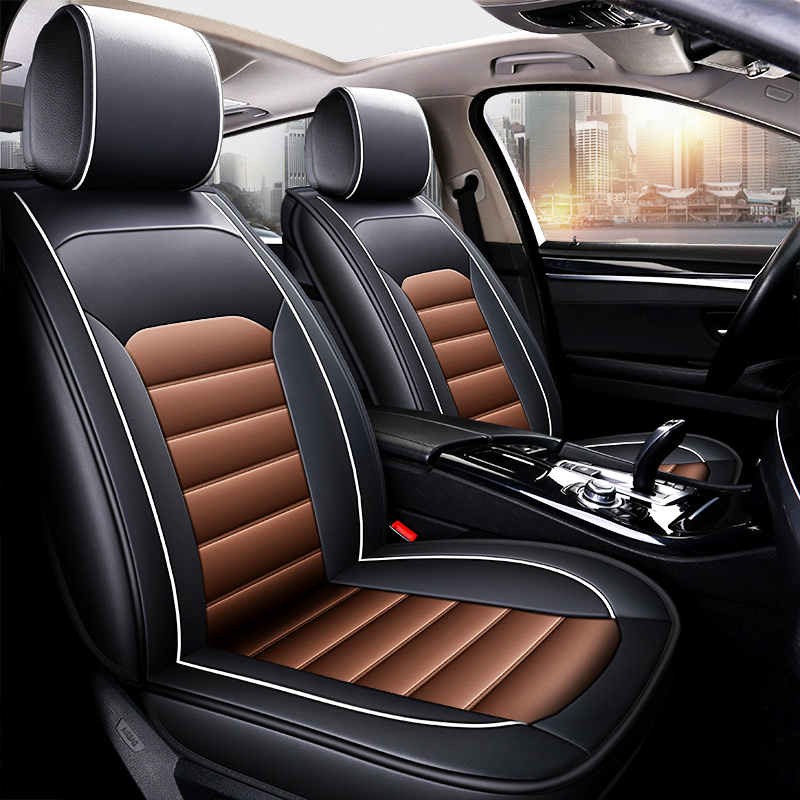 Image 2 - 2019 new car seat cover four seasons use car seat cushion fit for 95% 5 seat car models PU leather seat cover freeshipping-in Automobiles Seat Covers from Automobiles & Motorcycles