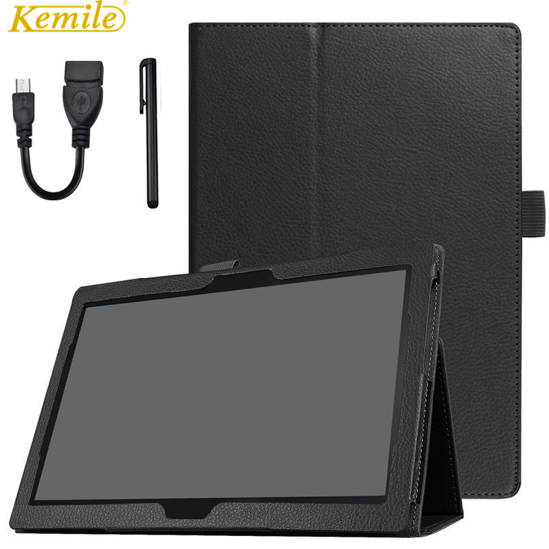 Kemile Case For Lenovo TAB4 Tab 4 10 TB-X304L TB-X304F TB-X304N 10.1 Tablet Slim Smart Leather Case Stand Cover ultra thin smart flip pu leather cover for lenovo tab 2 a10 30 70f x30f x30m 10 1 tablet case screen protector stylus pen