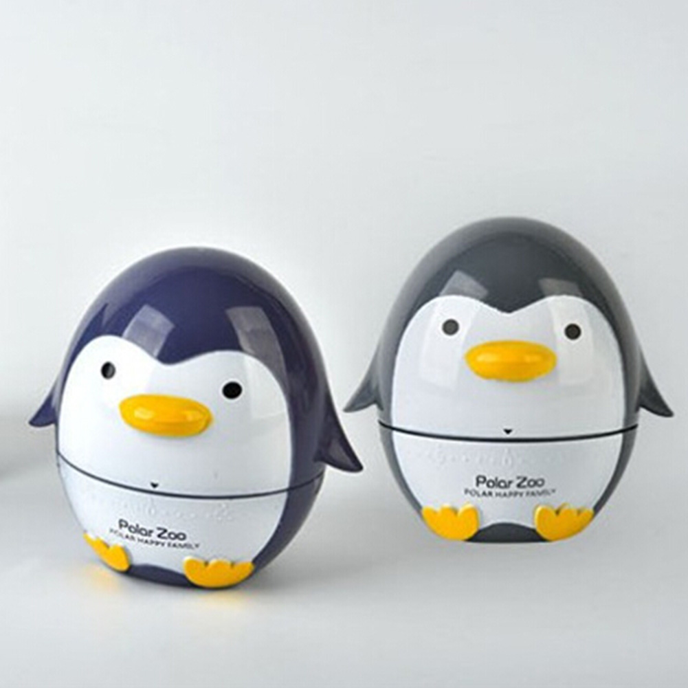 7x7.5cm Cute Cartoon Penguin Kitchen Timer Time Mechanical Alarm To Remind The Timer