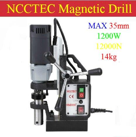 35 ミリメートル NCCTEC コアドリル磁気ベースドリル NMD35C   1.4 ''14 キログラム正味重量   1200 ワット