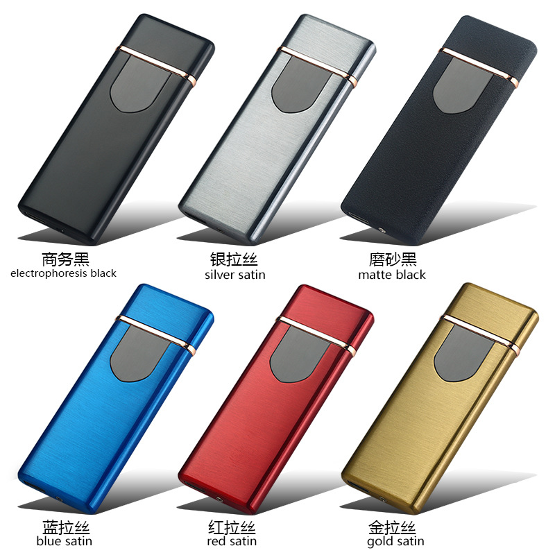 MeiJiaG Gift Package High Quality Windproof Smokeless Flameless Portable USB 2 0 Charging Lighter Electronic Cigarette Lighters in Lighters from Home Garden