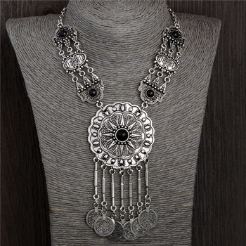 H:HYDE Fashion Antique Thai silver color necklace statement charms jewelry vintage nation choker necklaces & pendants