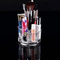 Acrilico trasparente organizzatore cosmetici lip balm Lipstickk jewelry display holder rack shelf Mascara Sopracciglio di trucco storage box