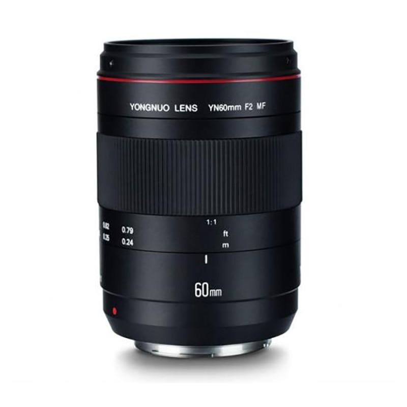 Светодиодная лампа для видеосъемки YONGNUO Макро объектив YN60mm F2 MF объектив с расстояние фокусировки индикатор для цифровой зеркальной камеры