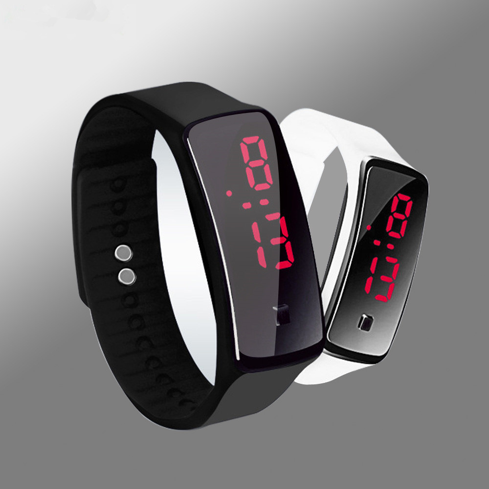 2019 Sport Watch Silicone Strap Clock LED Digital Women Watch Bracelet Male Watch Relogio Feminino Boys Girls Men Watches Gift