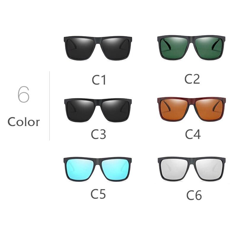 Квадратные Солнцезащитные очки Для мужчин поляризационные 2018 UV400 высокое качество Gozluk мужской вождения Драйвер солнцезащитные очки для Дл...