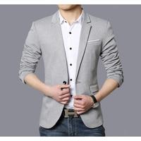 Casual Suit Blazer Men Fashion Slim fit Jacket Male Suits Cotton Solid Color Masculine Blazer for Men Outerwear Blazer Hombre