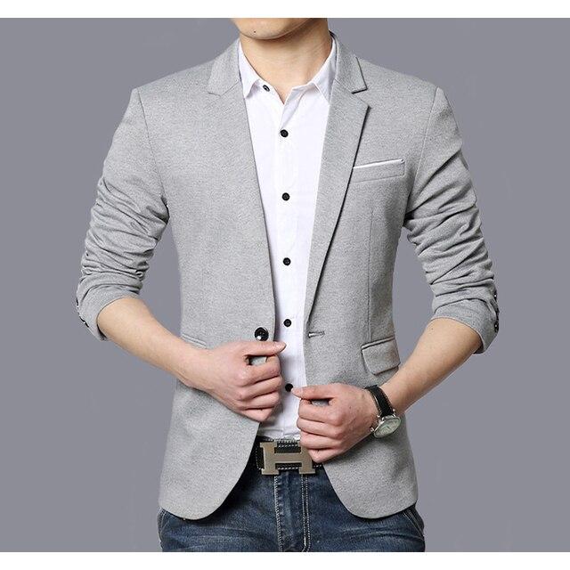 Traje Casual Blazer hombres moda Chaqueta Slim fit Hombre