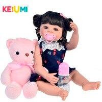 KEIUMI Baby Reborn Silicone Full Body 22 55 CM LOL Dolls Reborn Realistic Cute Boneca Toy For Kids Birthday Surprise