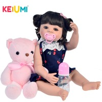 KIUMI Baby Reborn Silicone Full Body 22 55 CM LOL Dolls Reborn Realistic Cute Boneca Toy For Kids Birthday Surprise