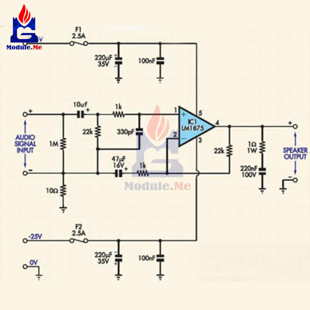 Detail Feedback Questions About 20w Hifi Mono Channel Lm1875t Stereo Circuit Diagram Amplifier Circuits Audio Board Module Diy Kit