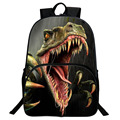 IVI 16 Inch Children Animal Bag Dinosaur Backpacks For School Boys Girls Printed Tyrannosaurus Backpack For Kids Students