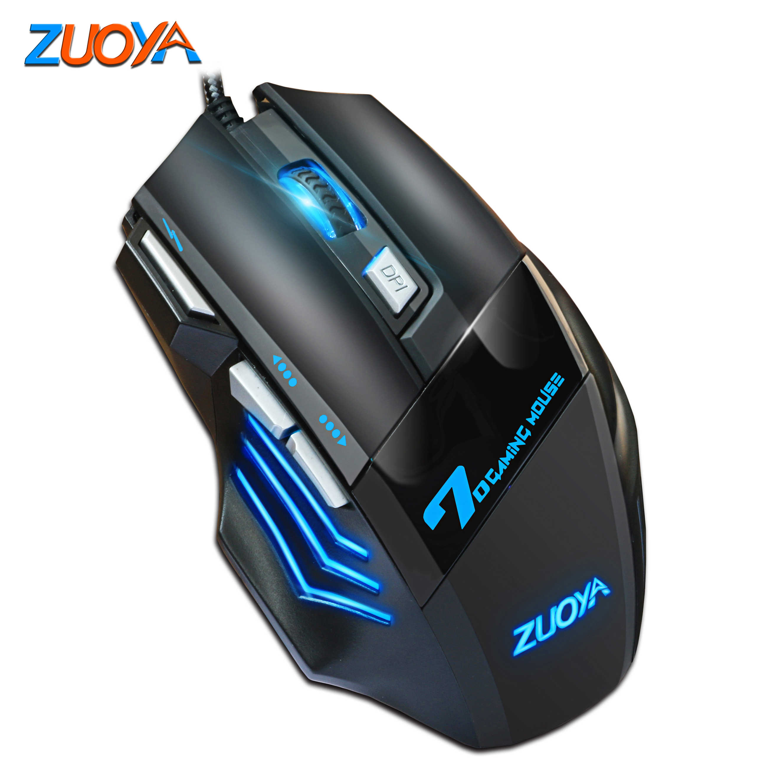 Color : MMR4 White Mouse Professional Gaming Mouse Wired Mice 6 Button 5500DPI Adjustable Game LED Optical Gamer USB Mause for PC Laptop Notebook Game