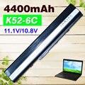 4400 мАч 6 cell аккумулятор для ноутбука Asus A52F A52J K52D K52DR K52F K52J K52JC K52JE K52N X52J А32-К52 А41-К52 70-NXM1B2200Z