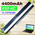 4400mAH  6 cell laptop battery for Asus A52F A52J K52D K52DR K52F K52J K52JC K52JE K52N X52J   A32-K52 A41-K52  70-NXM1B2200Z