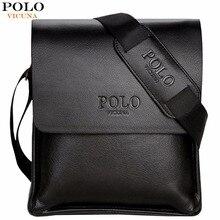 Викуньи поло известный бренд кожа Для мужчин сумка Повседневное Бизнес кожа Для мужчин s сумка Винтаж Для мужчин с плечевым ремнем bolsas мужской