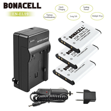 bonacell 3pcs EN EL19 EN-EL19 Li-ion Battery Charger Pack for Nikon Coolpix S33 S32 S3600 S3700 S4300 S5200 S6800 S4150 S4200