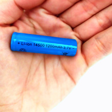 14500 Rechargeable Battery lithium battery 3.7V 1200mAh used in electric toys Alarm clock Remote control Mouse  razor