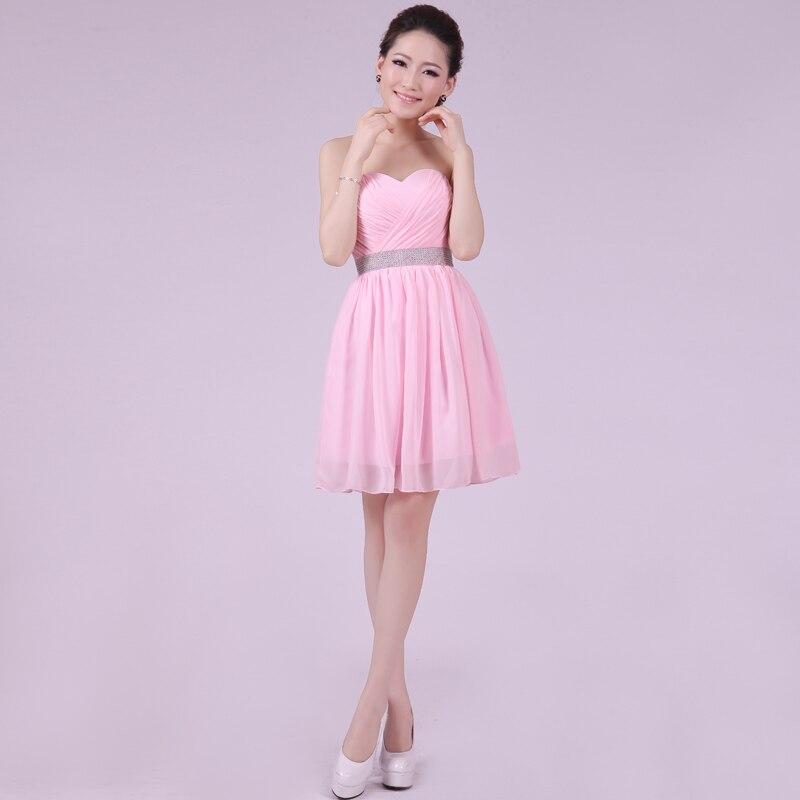 Increíble Vestidos De Dama De Gasa De Color Rosa Friso - Colección ...