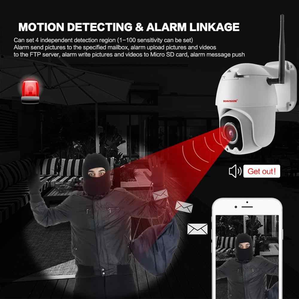 Супер Мини 2,5 дюймов PTZ скорость купол Wi Fi IP камера 1080 P Открытый 5X Zoom/4 мм фиксированный объектив беспроводной ИК 60 м двухстороннее аудио