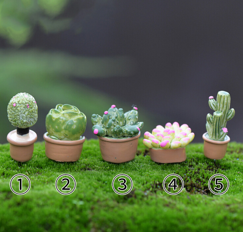 Potted succulents Miniature figures decorative fairy garden animal statue Home Desktop Gift Moss ornaments resin craft TNB074
