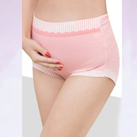 New Cotton Pregnant Shorts Maternity Panties Dot Printed Pregnant Briefs Clothes High Waist Pregnancy Underwear Women Lingerie