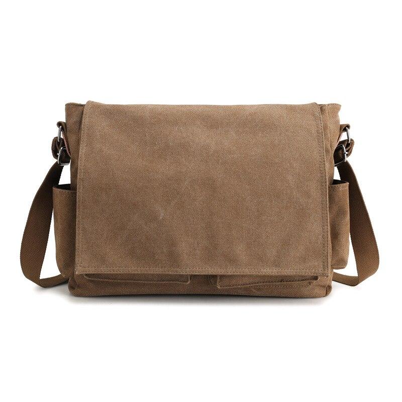 Image 2 - 2019 брендовый дизайнерский мужской портфель, холщовые сумки через плечо для мужчин, 14 дюймов, сумки на плечо для ноутбука, удобная офисная мужская сумка мессенджер-in Портфели from Багаж и сумки
