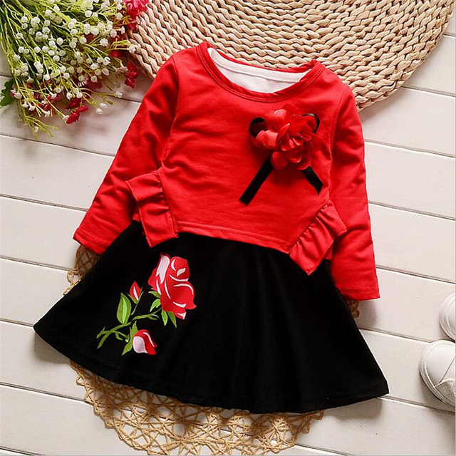 db768f46be2f BibiCola Baby Girl Dress Bebe Spring Clothing Set Autumn Toddler ...