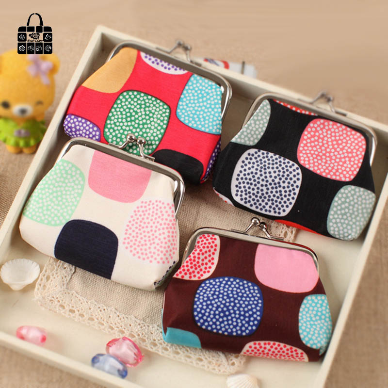 ROSEDIARY Women Cute Contrast color dots PU Hasp lady zero wallet Girls Coin Bag lady handbag Pouch Purse Wallet Purse bag