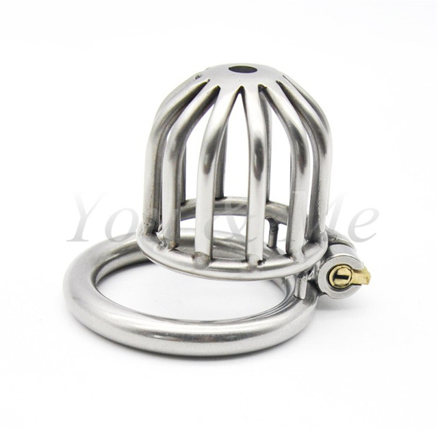 Male Chastity Device Stainless Steel Cock Short Cage Men's Virginity Lock, Small Chastity Belt Adult Game Sex Toys