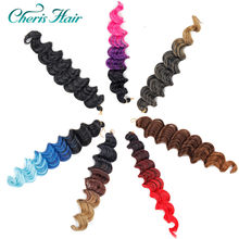 Synthetic Curly Crochet Hair Twist Brown Red Black Golden Colors Freetress Deep Wave Hair Extension Curly Afro Hair Extension(China)