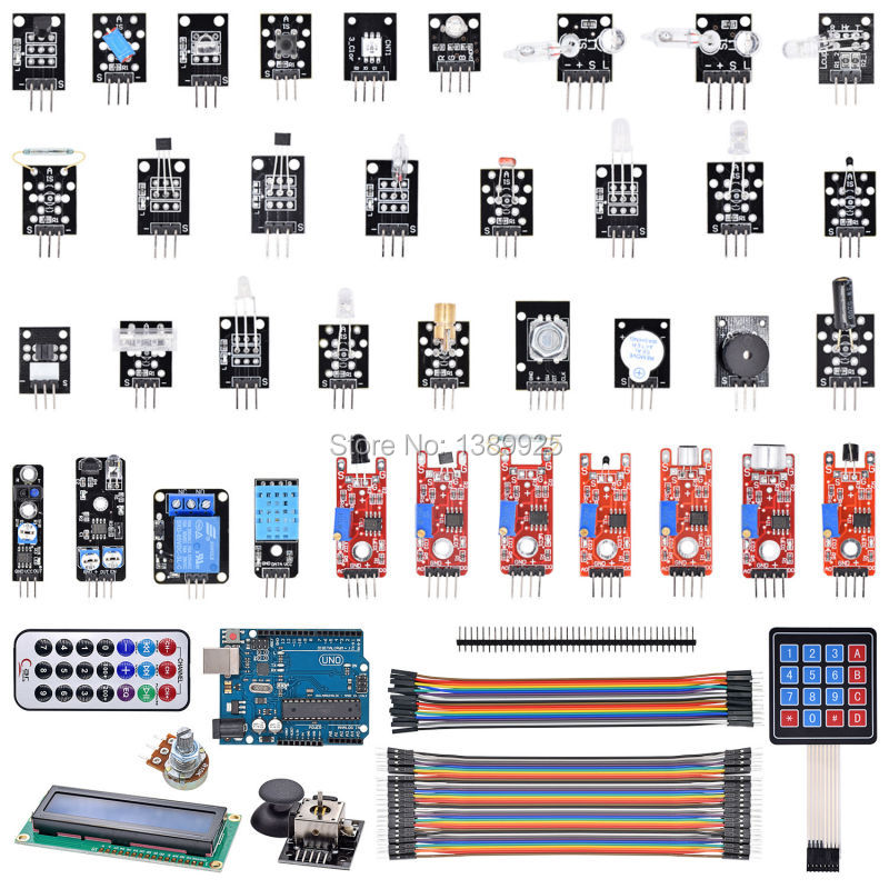 Factory Directly Selling 2015 New Item New Uno R3 37 modules For font b Arduino b