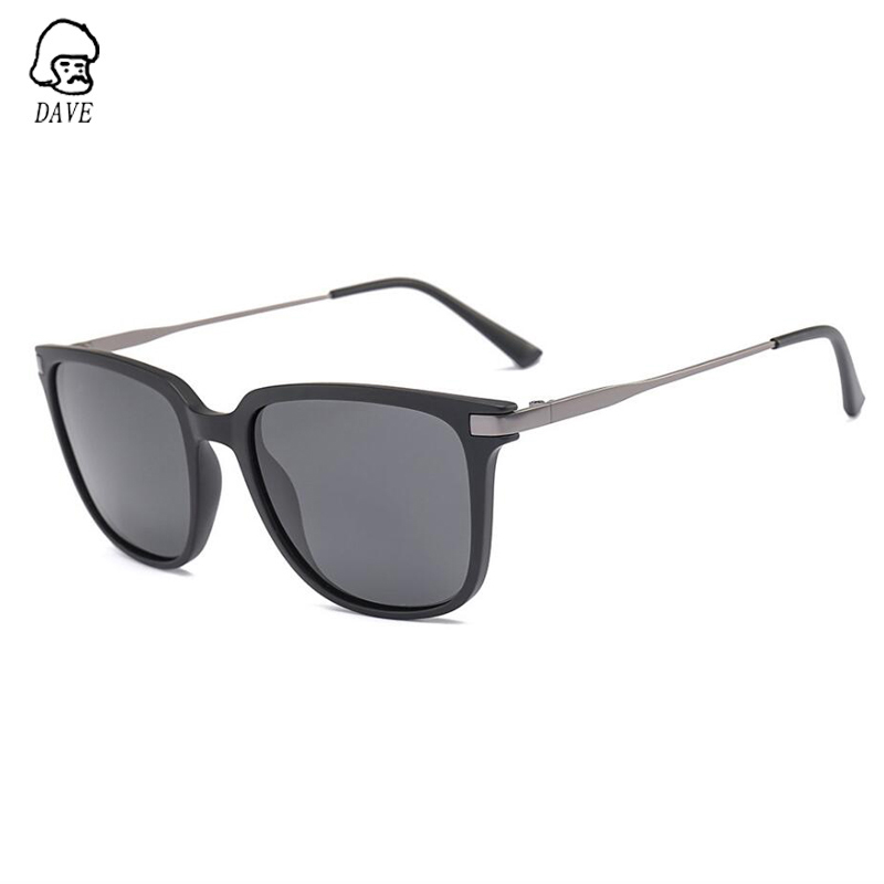DAVE Square Polarized Sunglasses Men High-Quality TR90 Frame Goggle Driving Mirror Brand Designer Outdoor Sun Glasses With Case