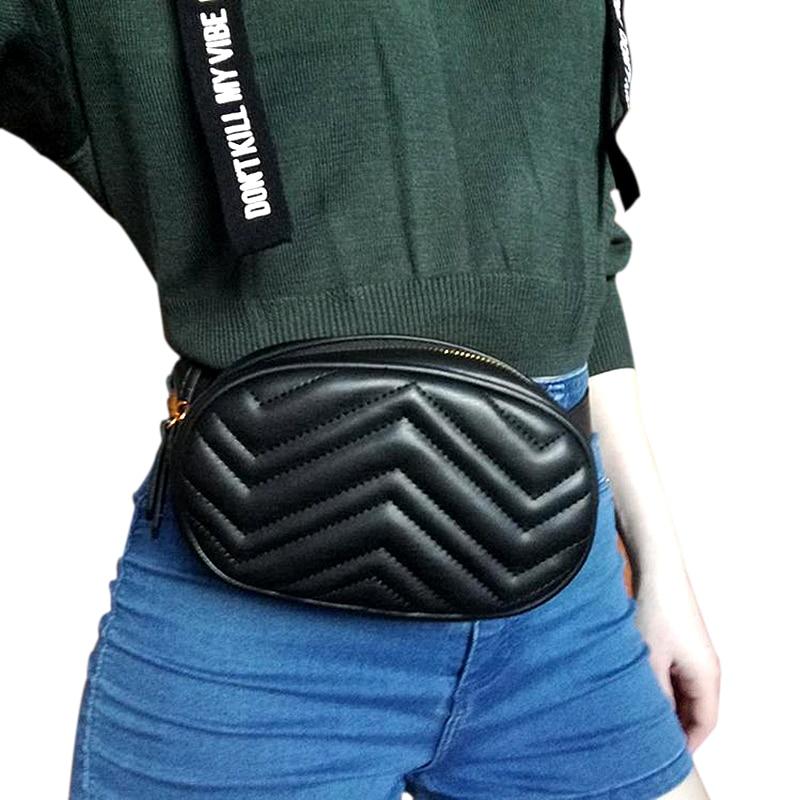Waist Bag Women Fanny Packs Luxury Brand Tassel Belt Bag Ladies PU Leather Chest Handbag Shoulder Bags Female Flap Belt Wallets