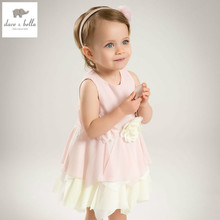 DB5035 dave bella summer baby girls cute princess dress baby flower dress kids birthday clothes dress