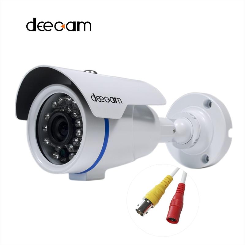 Deecam AHD Camera 1280*720P 1200TVL CCTV Security Home Video Surveillance HD 1MP Outdoor iR Cut Lens 3.6MM Camaras De Seguridad  deecam cmos 1200tvl security camera cctv camera system surveillance analog high definition ahd camera 720p camaras de seguridad