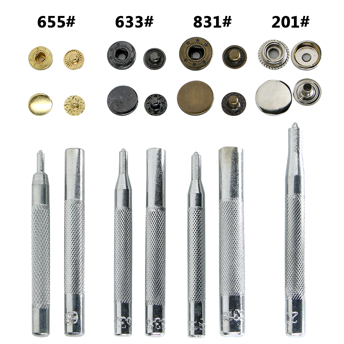 US $7 27 18% OFF|Useful 11pcs DIY Leather Craft Tool Die Punch Snap  Fasteners Press Studs Rivet Setter Base Fixing Kit Set for DIY  Leathercraft-in