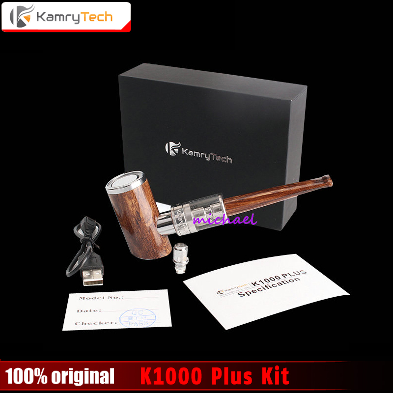 100% Original Kamry K1000 Plus E-Pipe vape kit 1000mAh Smoking Pen Wooden Design E Pipe e Electronic Cigarette