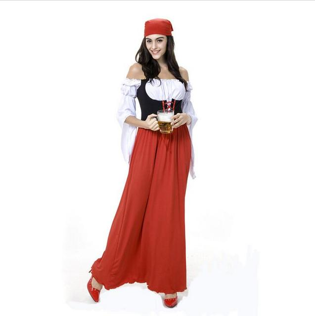 Retail New LONG Red Oktoberfest Plus size 6XL Beer Maid Peasant ...