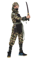 Classic Halloween Costumes Cosplay Costume Martial Arts Ninja Costumes For Kids Fancy Party Decorations Supplies Children
