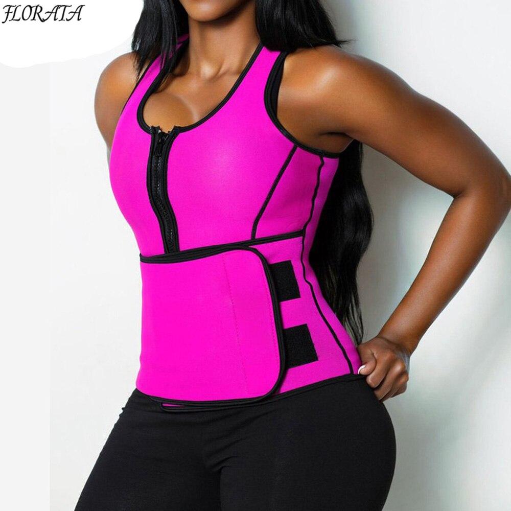 NEUE Neopren Sauna Weste Body Shaper Abnehmen Taille Trainer Heißer Shaper Mode Workout Shapewear Einstellbare Schweiß Gürtel Korsett